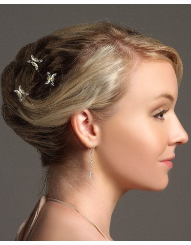 Pearl And Crystal Bridal Hairpin IPN012