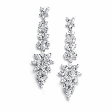 Stunning Radiant Cut Marquis Zirconia Earrings