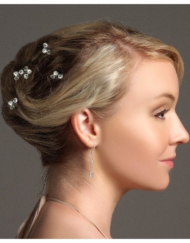 Crystal Trio Bridal Hairpin IPN014