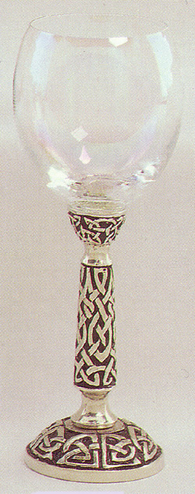 Celtic Glass Wine Goblet