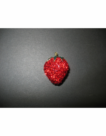 Crystal Strawberry Brooch - Strawberry Pin