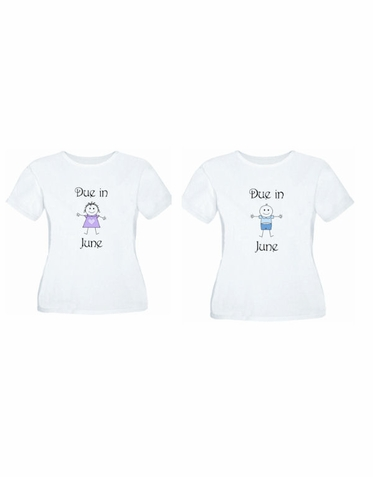 Due In ... Maternity Shirt - Choose Boy or Girl