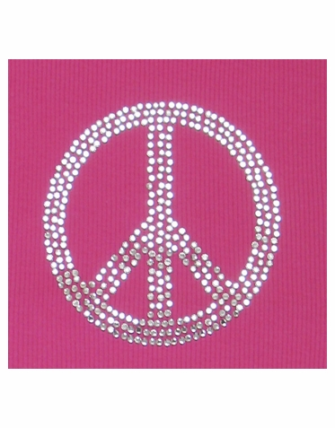 Peace Sign Rhinestone Transfer