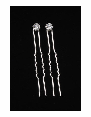 Rhinestone Bridal Hair Pins - Set of 2