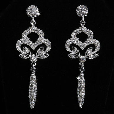 En Vogue Crystal Bridal Earrings E841