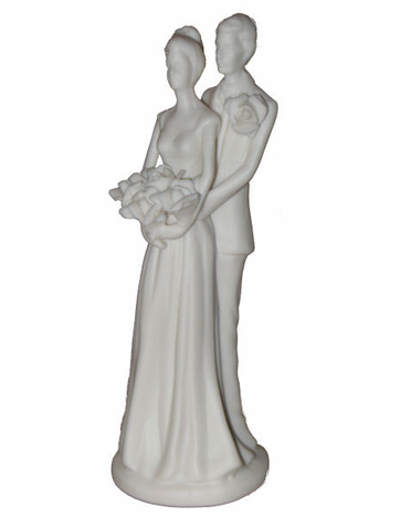 CLEARANCE:Porcelain Bride and Groom Figurine