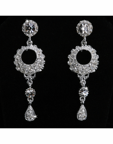 CLEARANCE: En Vogue Crystal Bridal Earrings in Silver and Gold E842