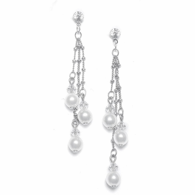Custom Earrings with Crystal and Pearl