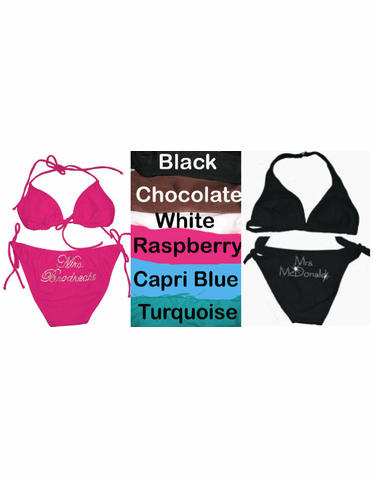 Personalized Bride Bikini - Limited Colors Available!