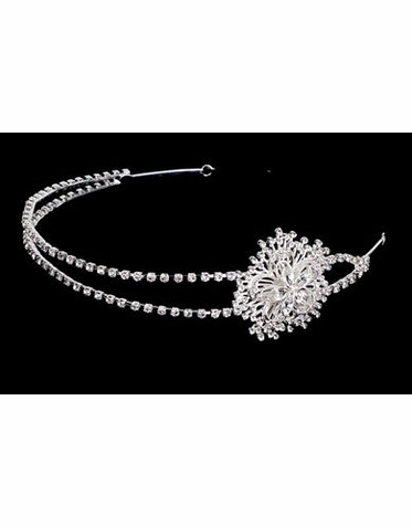 Bridal Headband with Side Rhinestone Sunburst Design TR2248
