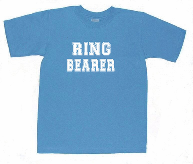 Ring Bearer T-Shirt with Athletic Lettering