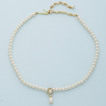 Ivory Pearl Gold Necklace