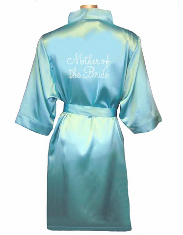 Rhinestone Bling Bridal Party Satin Robe
