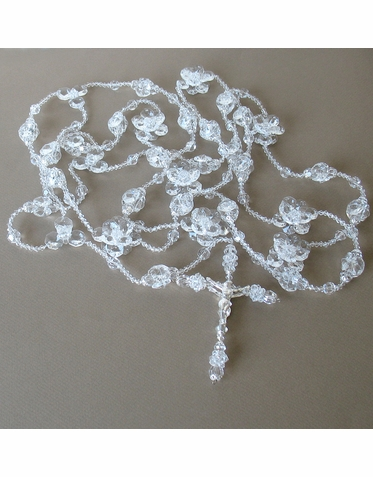 Crystal Flower Wedding Lasso-Wedding Lazo