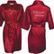 Rhinestone Bridal Party Robes with Elegant Swirl Titles