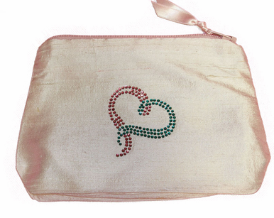 BRCA Cosmetic Bag in Silk Dupioni