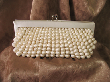 CLEARANCE: Sondra Roberts Silk Wrapped Bridal Purse