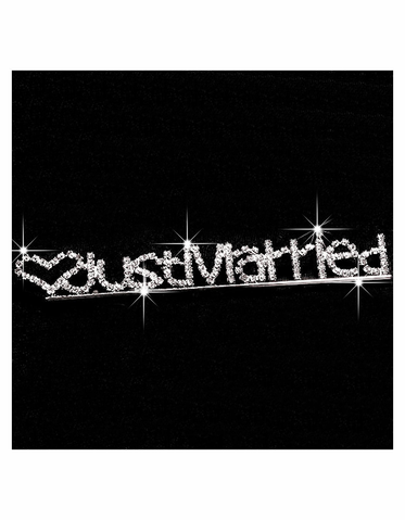 CLEARANCE: Rhinestone Just Married Pin