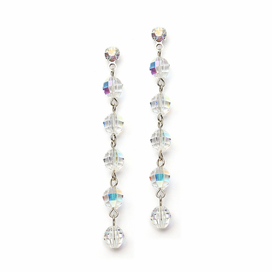 Simply Elegant Swarovski Crystal Linear Drop Earrings In 30 Gorgeous Colors