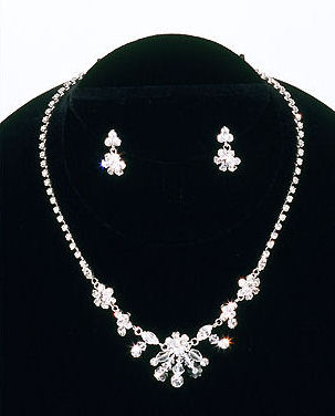 CLEARANCE:  Bel Aire Bridal Necklace and Earrings