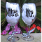 Personalized Mr and Mrs Wine Glasses - Sold Individually