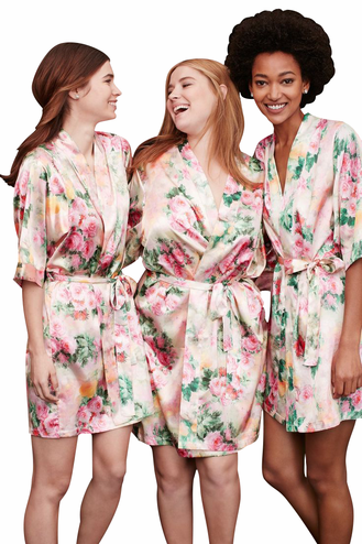 Floral Print Bride and Bridesmaid Robe