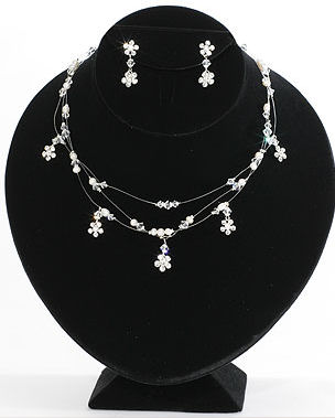 Bel Aire Bridal Necklace and Earrings Set J2024