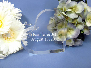 Personalized Side Heart Cake Topper