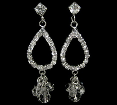 CLEARANCE: Rhinestone and Crystal Drop Earrings