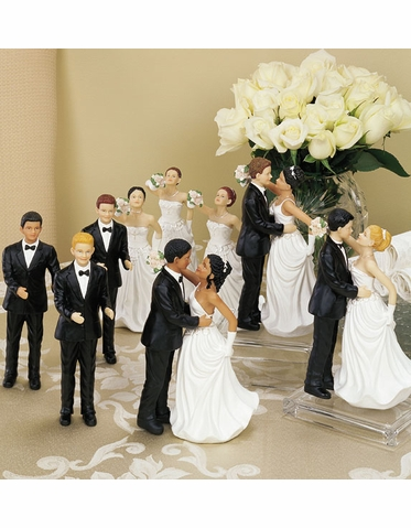 CLEARANCE:  Interchangeable Bride & Groom Cake Toppers