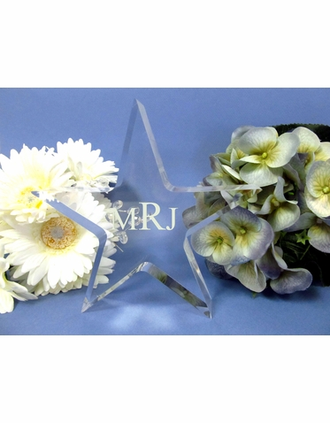 Personalized Star Cake Topper
