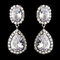 CLEARANCE: Brilliant Large CZ and Crystal Drop Earrings - One Pair Left!