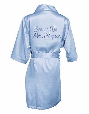Personalized Soon To Be Mrs. Glitter Robe