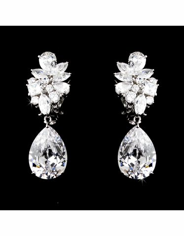 Brilliant CZ and Crystal Earrings with Vintage Flair