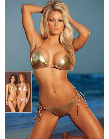 Metallic Silver Bikini or Metallic Gold Bikini