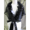 CLEARANCE: Zandra Marabou Feather Shruglet - Bridal Wrap