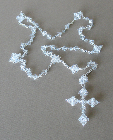 Beautiful Clear Crystal Rosary