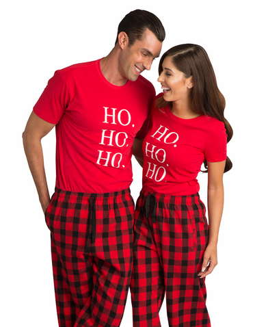 Matching Couples Christmas Pajama Set
