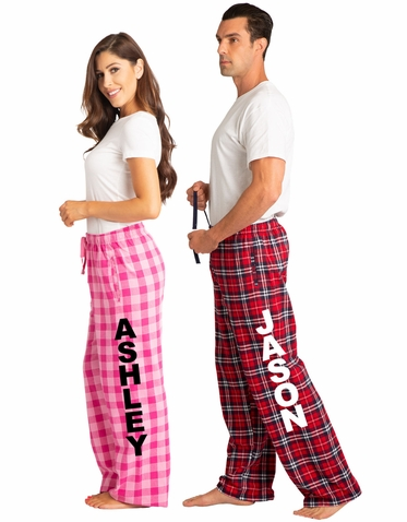 Personalized Pajama Pants with Custom Name