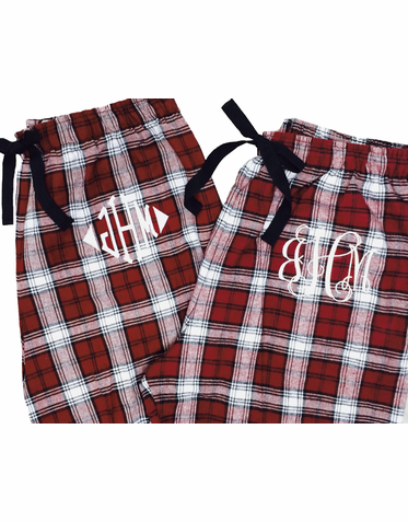 Personalized His and Hers Pajamas - Set of 2
