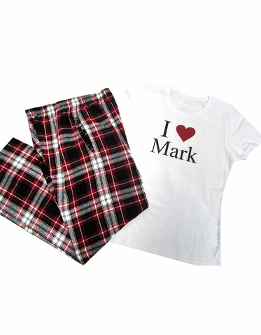 I Heart Custom Pajamas Set