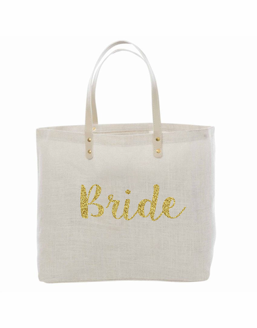 Glitter Bride Tote - Huge Variety of Color Options!