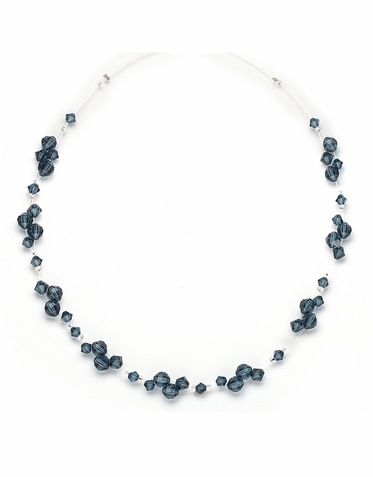 Stunning Custom Made Swarovski Crystal Cluster Necklace 30 Gorgeous Colors Available