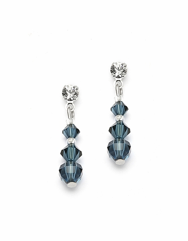 Stunning Custom Made Swarovski Crystal Earrings Available In 30 Gorgeous Colors