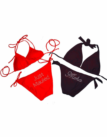 Just Mauied Bikini - String or Halter - Just Married Bikini