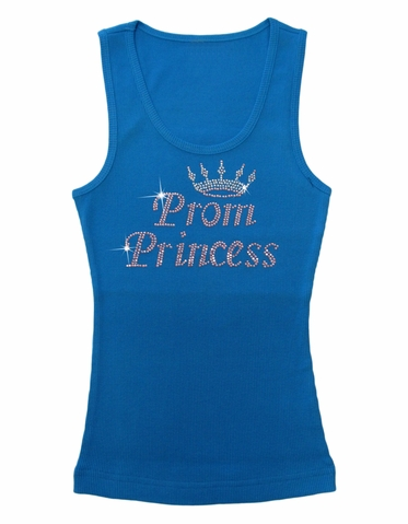 Prom Princess Tank Top or Tee with Crown