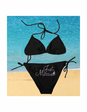Personalized Bikini - Custom Just Married Bikini or New Mrs. Bikini