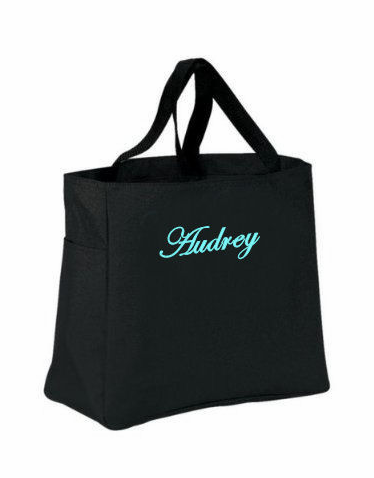 Embroidered Personalized Tote Bag - Monogrammed Tote Bag