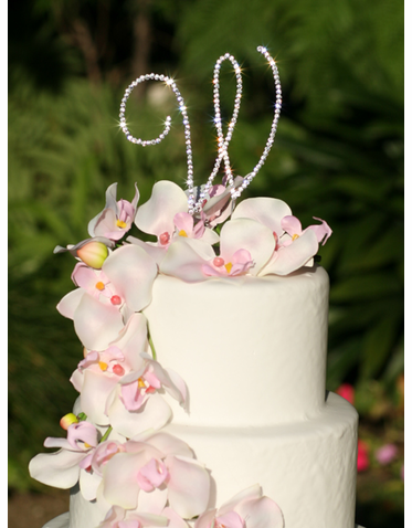 CLEARANCE: Swarovski Crystal Initial Cake Letter