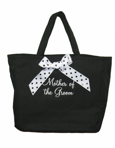 Personalized Mother of the Bride Tote Bag - Mother of the Groom Tote Bag - with Optional Bow